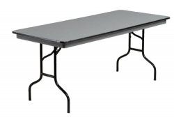 6' Black Tables