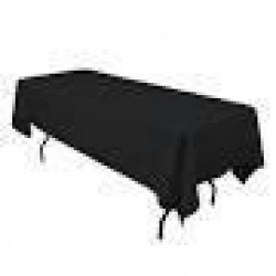 6' Tablecloth Lap Length (Black)