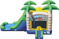 Tropical Water Slide and Bounce
