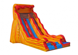 20' Flammin' Wave Dual Lane Wet or Dry Slide