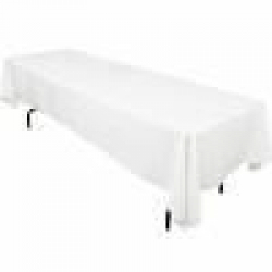 6' Tablecloth Lap Length (White)