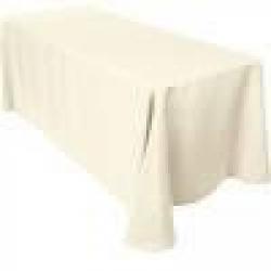 6' Tablecloth Floor Length (Ivory)