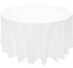 5 Round Tablecloth Floor Length (White)