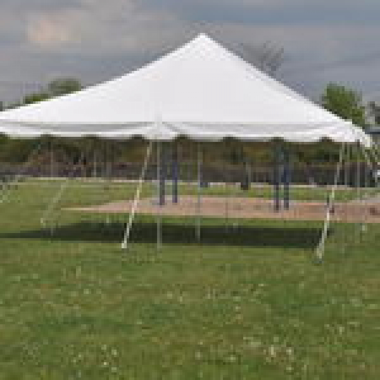 20 x 20 Pole Tent with set up