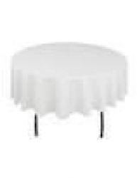 5' Round Tablecloth Lap Length (White)