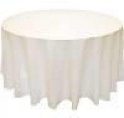 5 Round Tablecloth Floor Length (Ivory)