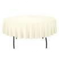 5' Round Tablecloth Lap Length (Ivory)