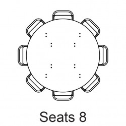 """60 in round table seating l 1618869378 5 ft - Round Table - 60"""""""