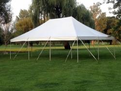 20x30 Pole Tent (White)