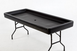 6' Fill N Chill Beverage Table (Black)