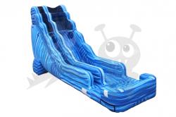 22' Blue Marble Crush Waterslide