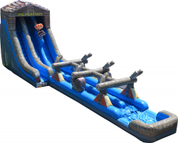 27' Log Mountain with Slip and Slide: with 50' Hose