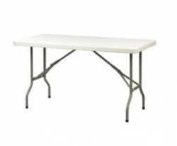 5 Ft Plastic Table: to be placed at the front of building.