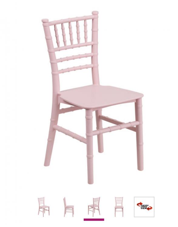 Kids Pink Chiavari Chair