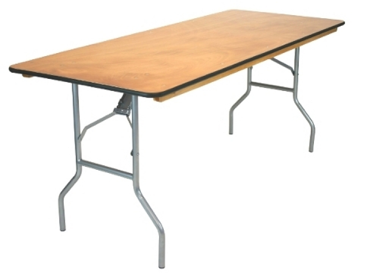 8ft Rectangular Table (Wood)