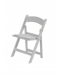 (Kids) White Resin Folding Chair