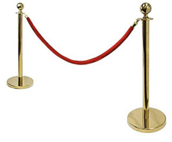 Two Stanchion w/ Red Rope