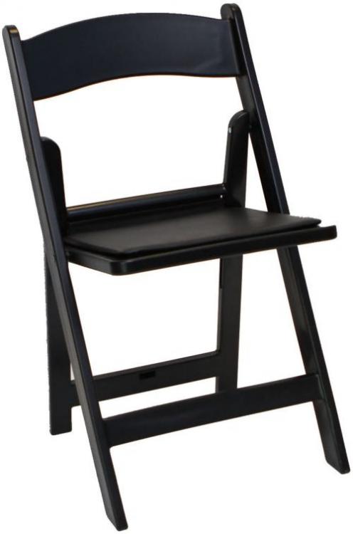 Black Resin Chair