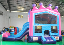 Princess Tiara DRY Slide Bounce House!