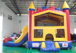 DRY Colorful Combo Bounce House!