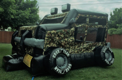 Camo Military Truck Bouncer