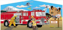 Firemen Themed Panel