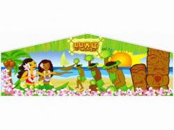 Luau Themed Panel