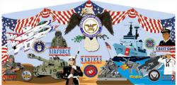 U.S. Military Themed Panel