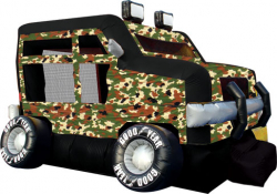 Military Truck Moonbounce