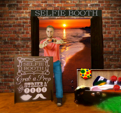 Selfie Booth with Prop Trunk