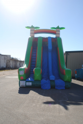 22 Foot Double Lane Dry Slide (Tropical) $425