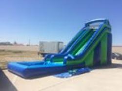 549efb2821ab361d288f91b5e9dd4cb2 20 Foot Slide with pool (blue & green) $325