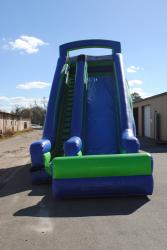 556cb21864044ca8a26bdae600c75cba 20 Foot Dry Slide (Blue & Green) $300