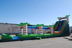 5e540b88e9c0f0e296bd8f743a83131e 22 Foot Double Lane Slide with 35 foot Slip n Slide $500