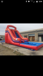 5fe37bd3883d30cfe50aa7eb141799f8 16 Foot Slide with pool $275