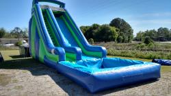 60b3bcf1898c14200378c350b6f99548 20 Foot Slide with pool (blue & green) $325