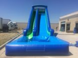 74cb05beeae60738f5c7779f09d17fad 20 Foot Slide with pool (blue & green) $325