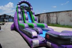 18' purple slide landing (wet/dry) $300