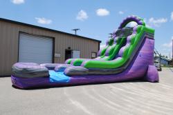 DSC 6578 57535394 18' purple slide landing (wet/dry) $300