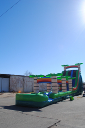 22 Foot Double Lane Slide with 35 foot Slip n Slide
