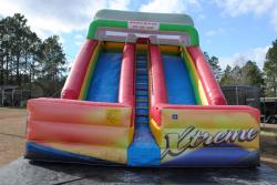 daa575bd8f6459f46bf78fd63eaa2537 22 Foot Double Lane Dry Slide (Extreme) $400