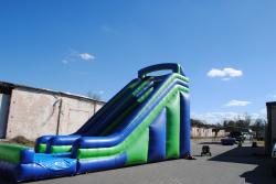 e846b932659787900f7e4a55a1a345c8 20 Foot Dry Slide (Blue & Green) $300