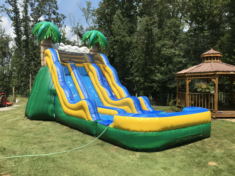 17ft Tropical slide