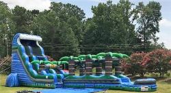 22FT Tropical Tsunami Water Slide with Slip n Slide