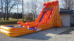 20' Flammin' Wave Dual Lane Slide