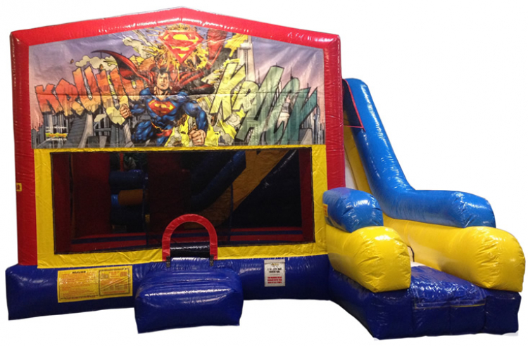 Superman 3 in 1 combo charleston jump castles for Bureau 39 superman