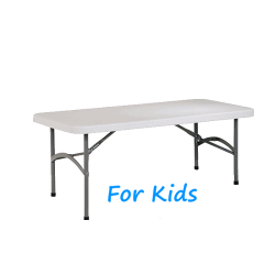 KID'S 4 FOOT RECTANGULAR PLASTIC TABLE