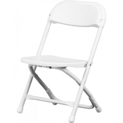 KID'S WHITE PLASTIC FOLDING CHAIR