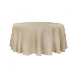 108 Round Faux Burlap Linen Linens