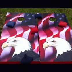 Corn Hole - A (American Flag/Eagle)